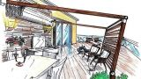 Pergola in terrazza per un living esterno
